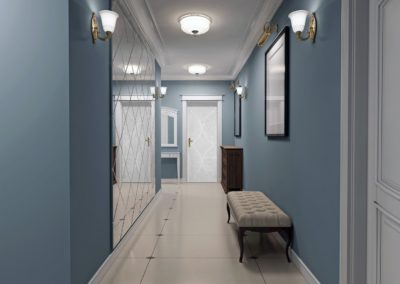 Luxury entrance hall art deco design