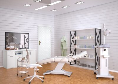 Room with equipment in the clinic of dermatology and cosmetology
